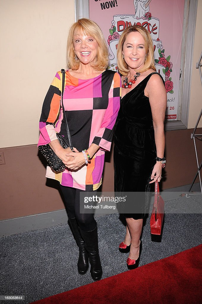 Actresses Teresa Ganzel and Erin Murphy attend the opening night performance of 'Divorce Party - The Musical' at El Portal Theatre on March 3, 2013 in North Hollywood, California.