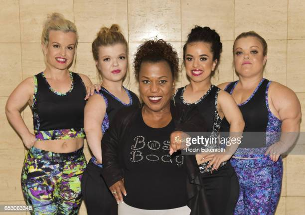Actresses Terra Jole Autumn Gibel designer Tonya Renee Banks actresses Briana Renee and Christy Gibel pose for portrait at Tonya Renee Banks' debut...