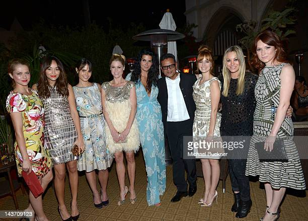 Actresses Tersesa Palmer Ashley Madekwe Jordana Brewster Julie Bowen Angie Harmon designer Naeem Khan Ahna O'Reilly Kaley Cuoco and Ellie Kemper...