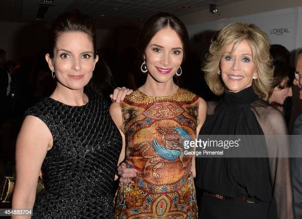 Actresses Tina Fey Abigail Spencer and Jane Fonda attend the 'This Is Where I Leave You' premiere during the 2014 Toronto International Film Festival...