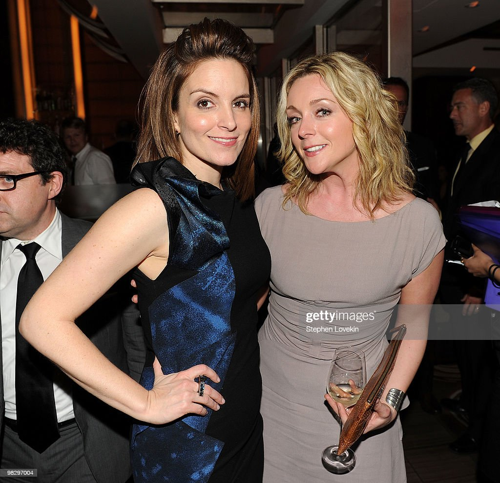 Actresses Tina Fey and Jane Krakowski attend the after party for the premiere of 'Date Night' at Aureole on April 6 2010 in New York City