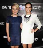 Actresses Tina Majorino and Alyson Stoner attend the 2015 Industry Dance Awards and cancer benefit show at Avalon on August 19 2015 in Hollywood...