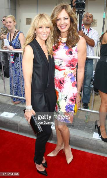 Actresses Toni Collette and Allison Janney attend 'The Way Way Back' premiere sponsored by DIRECTV during the 2013 Los Angeles Film Festival at Regal...