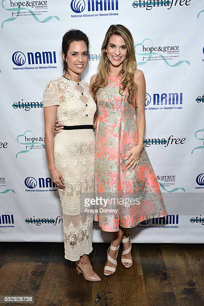 Actresses Torrey DeVitto and Rachel McCord attend the Hope and Grace Luncheon with NAMI And Philosophy For Mental Health awareness month at Sofitel...