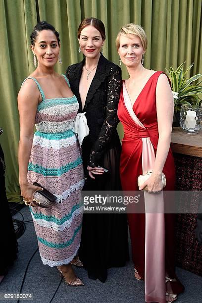 Actresses Tracee Ellis Ross Michelle Monaghan and Cynthia Nixon attend The 22nd Annual Critics' Choice Awards at Barker Hangar on December 11 2016 in...