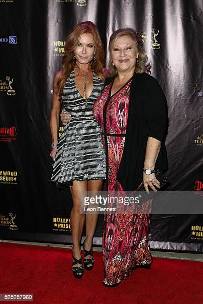 Actresses Tracey E Bregman and Beth Maitland attends the 2016 Daytime Emmy Awards Nominees Reception Arrivals at The Hollywood Museum on April 27...