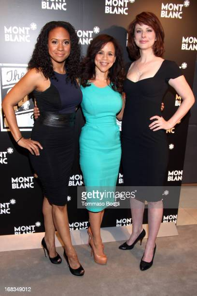 Actresses Tracie Thoms Rosie Perez and Diane Neal attend the Montblanc Presents The 24 Hour Plays 2013 LA cast announcement and kickoff party held at...