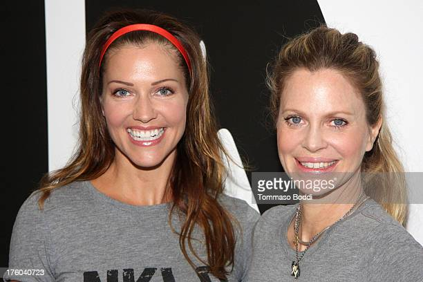 Actresses Tricia Helfer and Kristin Bauer attend the NKLA Pet Adoption Center ribbon cutting and celebrity/donor brunch held at NKLA Pet Adoption...