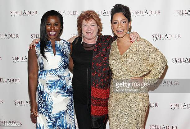 Actresses Uzo Aduba Kate Mulgrew and Selenis Leyva attend Stella By Starlight The Stella Adler Studio Of Acting's 10th Annual Fundraising Gala on May...