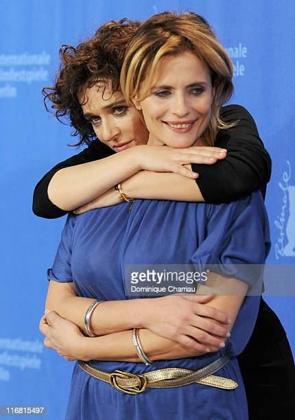 Actresses Valeria Golino and Isabella Ferrari attend the 'Quiet Chaos' Photocall on day seven of the 58th Berlinale Film Festival at the Grand Hyatt...