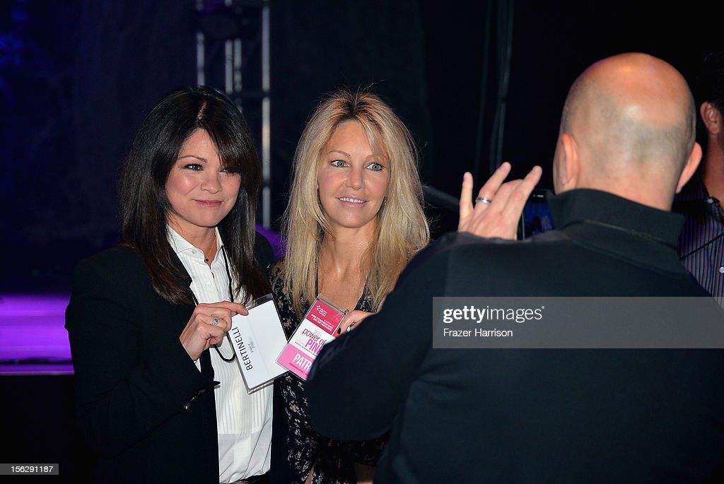 Actresses Valerie Bertinelli (L) and Heather Locklear pose for a photo at the St. John's Health Center's Power Of Pink benefiting The Margie Petersen Breast Center at Sony Studios on November 12, 2012 in Los Angeles, California.