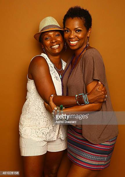 Actresses Vanessa Bell Calloway and Vanessa A Williams pose for a portrait at the 2014 American Black Film Festival at the Metropolitan Pavillion on...