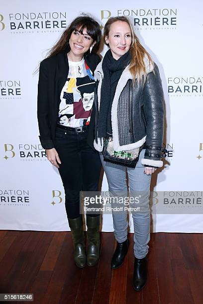 Actresses Vanessa Guide and Audrey Lamy attend the Premiere of 'Five' Laureat Du Prix Cinema 2016 Fondation Diane And Lucien Barriere Held at Cinema...