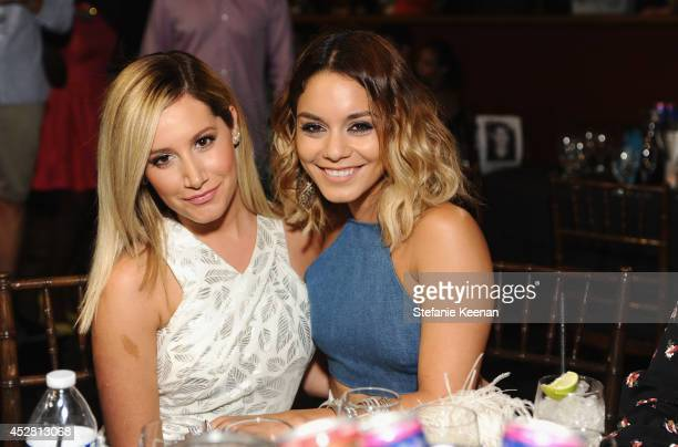 Actresses Vanessa Hudgens and Ashley Tisdale at the 2014 Young Hollywood Awards brought to you by Samsung Galaxy at The Wiltern on July 27 2014 in...