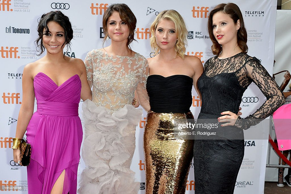 Actresses Vanessa Hudgens, Selena Gomez, Ashley Benson and Rachel Korine attend the'Spring Breakers' premiere during the 2012 Toronto International Film Festival at Ryerson Theatre on September 7, 2012 in Toronto, Canada.