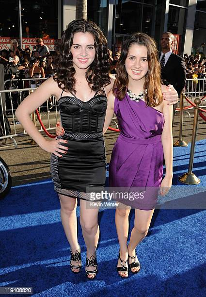Actresses Vanessa Marano and Laura Marano attend the 'Captain America The First Avenger' Los Angeles Premiere at the El Capitan Theatre on July 19...