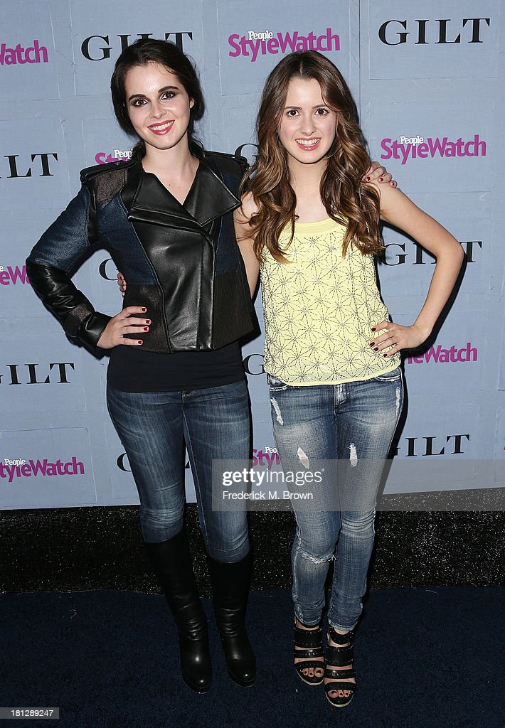 Actresses <a gi-track='captionPersonalityLinkClicked' href=/galleries/search?phrase=Vanessa+Marano&family=editorial&specificpeople=851394 ng-click='$event.stopPropagation()'>Vanessa Marano</a> (L) and <a gi-track='captionPersonalityLinkClicked' href=/galleries/search?phrase=Laura+Marano&family=editorial&specificpeople=2546967 ng-click='$event.stopPropagation()'>Laura Marano</a> attend the People StyleWatch Denim Awards by GILT at the Palihouse on September 19, 2013 in West Hollywood, California.