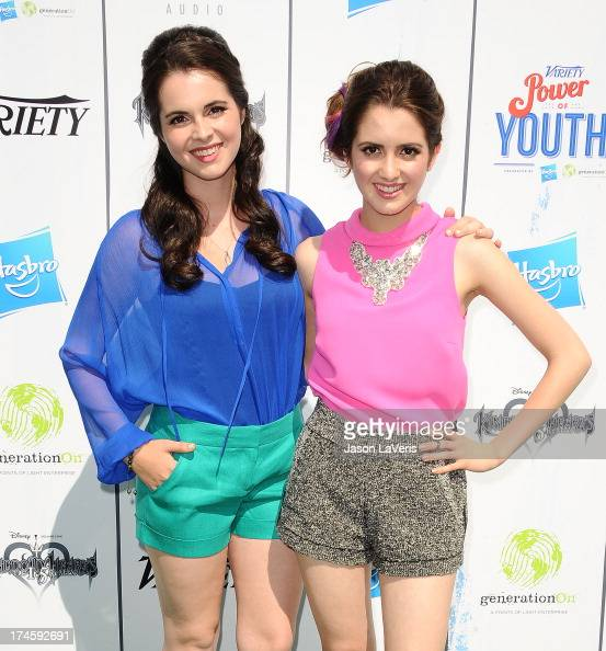 Actresses Vanessa Marano and Laura Marano attend Variety's 7th annual Power of Youth event at Universal Studios Hollywood on July 27 2013 in...