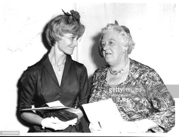 Actresses Virginia McKenna and Margaret Rutherford at The Women of the Year Luncheon at the Savoy Hotel London 1959