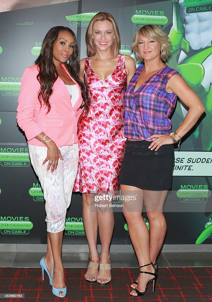 Actresses <a gi-track='captionPersonalityLinkClicked' href=/galleries/search?phrase=Vivica+A.+Fox&family=editorial&specificpeople=201901 ng-click='$event.stopPropagation()'>Vivica A. Fox</a>, <a gi-track='captionPersonalityLinkClicked' href=/galleries/search?phrase=Kristanna+Loken&family=editorial&specificpeople=218127 ng-click='$event.stopPropagation()'>Kristanna Loken</a> and <a gi-track='captionPersonalityLinkClicked' href=/galleries/search?phrase=Zoe+Bell&family=editorial&specificpeople=2235705 ng-click='$event.stopPropagation()'>Zoe Bell</a> attend Movies On Demand 'Mercenaries' Interviews during Comic-Con 2014 at Hard Rock Hotel San Diego on July 25, 2014 in San Diego, California.