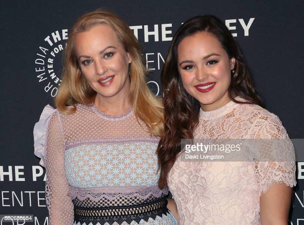 Actresses Wendi McLendonCovey and Hayley Orrantia attend 'The Goldbergs' 100th episode celebration at The Paley Center for Media on October 17 2017...