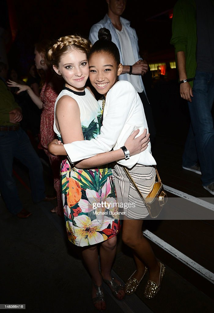 Actresses Willow Shields (L) and Amandla Stenberg attend Entertainment Weekly's 6th Annual Comic-Con Celebration sponsored by Just Dance 4 held at the Hard Rock Hotel San Diego on July 14, 2012 in San Diego, California.
