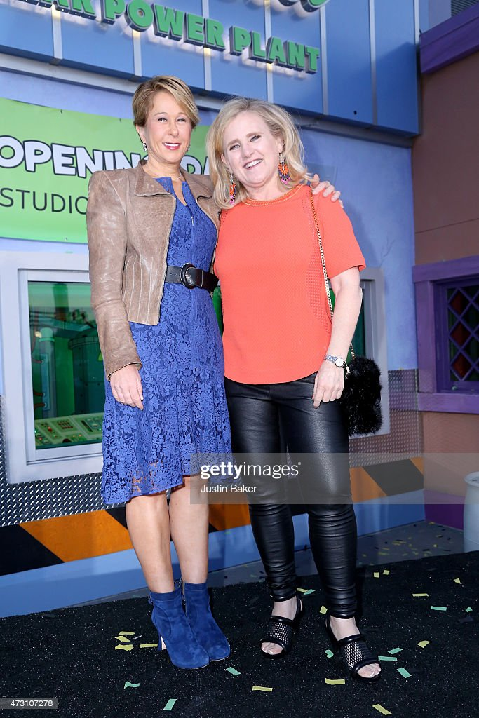 Actresses Yeardley Smith and Nancy Cartwright attend the 'Taste Of Springfield' press event at Universal Studios Hollywood on May 12 2015 in...