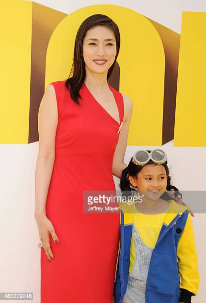 Actresses Yuki Amami and Saika Fujita arrive at the premiere of Universal Pictures and Illumination Entertainment's 'Minions' at The Shrine...
