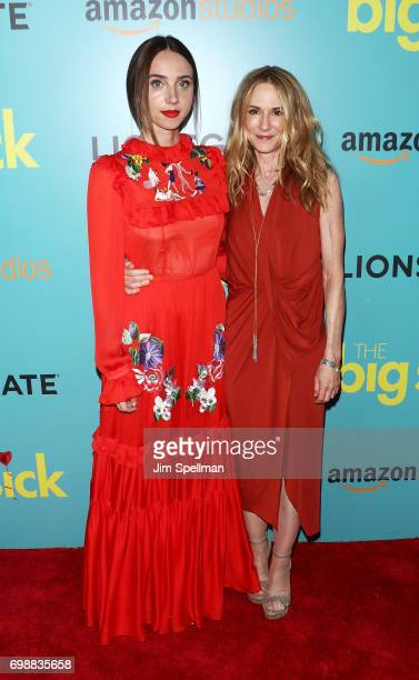 Actresses Zoe Kazan and Holly Hunter attend 'The Big Sick' New York premiere at The Landmark Sunshine Theater on June 20 2017 in New York City