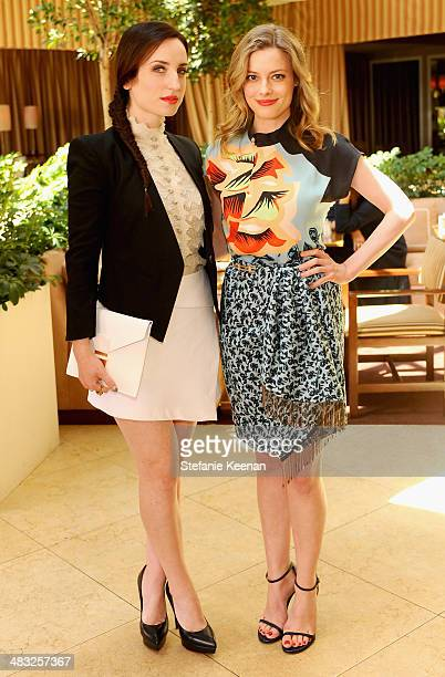 Actresses Zoe ListerJones and Gillian Jacobs attend Vogue Lunch In Celebration Of The Etro Spring Collection Hosted By Sally Singer at Sunset Tower...