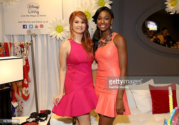Actresses/Singers Debby Ryan and Coco Jones attend the Minnie Gifting Lounge during the 2013 Radio Disney Awards at Nokia Theatre LA Live on April 27...