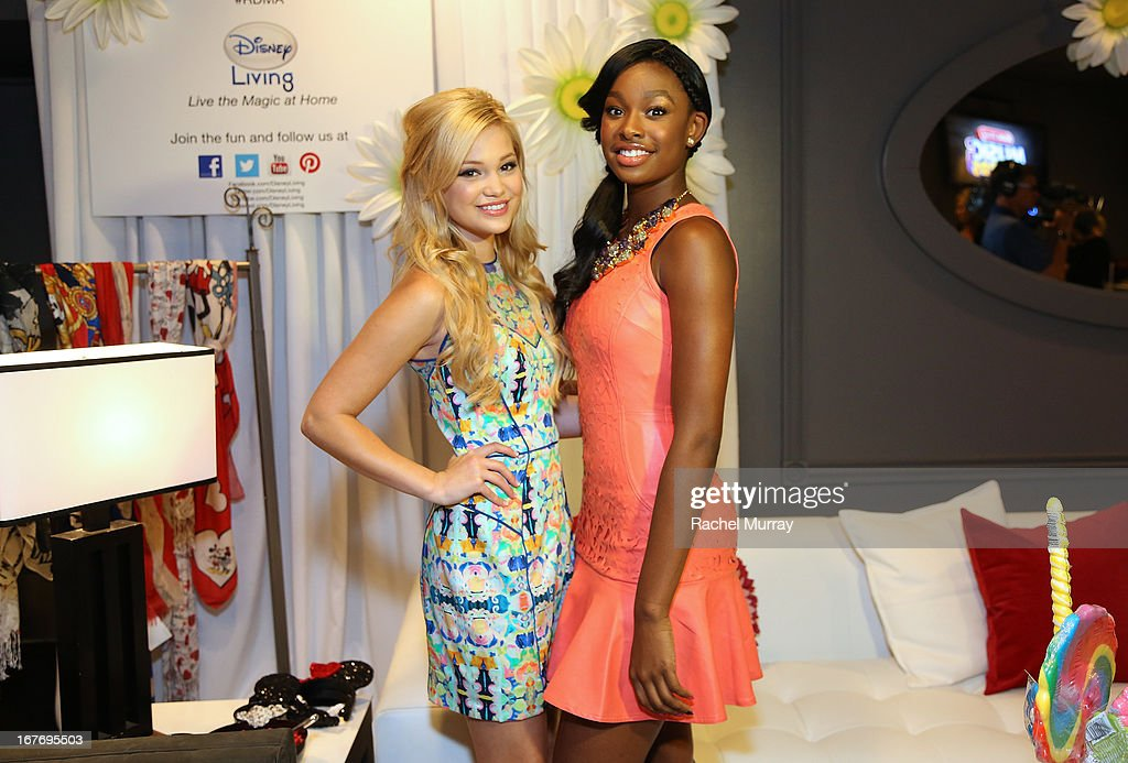 Actresses/Singers <a gi-track='captionPersonalityLinkClicked' href=/galleries/search?phrase=Olivia+Holt&family=editorial&specificpeople=7563645 ng-click='$event.stopPropagation()'>Olivia Holt</a> (L) and <a gi-track='captionPersonalityLinkClicked' href=/galleries/search?phrase=Coco+Jones&family=editorial&specificpeople=4684153 ng-click='$event.stopPropagation()'>Coco Jones</a> attend the Minnie Gifting Lounge during the 2013 Radio Disney Awards at Nokia Theatre L.A. Live on April 27, 2013 in Los Angeles, California.