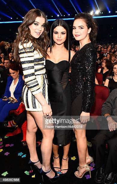 Actresses/singers Selena Gomez and Hailee Steinfeld and actress Bailee Madison attend the 2015 American Music Awards at Microsoft Theater on November...