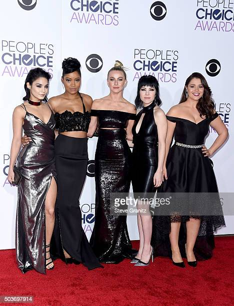 Actressessingers Vanessa Hudgens Keke Palmer Julianne Hough Carly Rae Jepsen and Kether Donohue attend the People's Choice Awards 2016 at Microsoft...