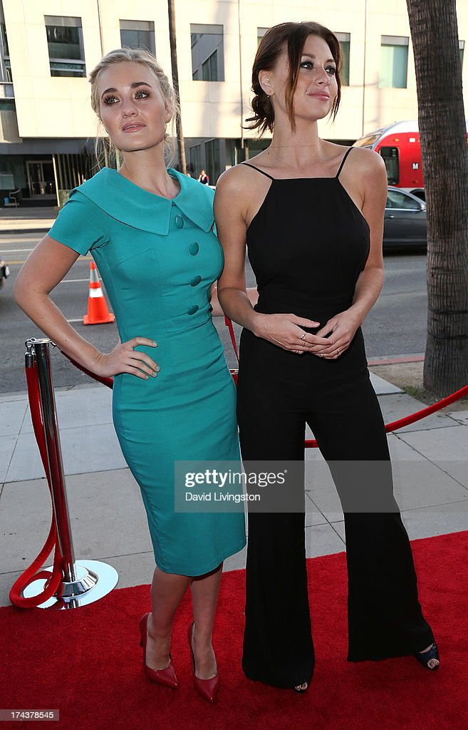 Actresses/sisters AJ Michalka (L) and Aly Michalka attend the premiere of 'Blue Jasmine' hosted by the AFI & Sony Picture Classics at the AMPAS Samuel Goldwyn Theater on July 24, 2013 in Beverly Hills, California.