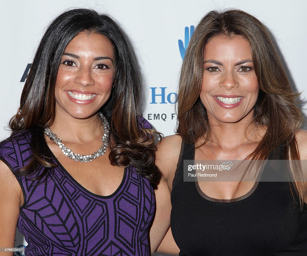 Actresses/sisters Christina Vidal and <a gi-track='captionPersonalityLinkClicked' href=/galleries/search?phrase=Lisa+Vidal&family=editorial&specificpeople=665925 ng-click='$event.stopPropagation()'>Lisa Vidal</a> arriving at the 2nd Annual Norma Jean Gala 2014 at The Paley Center for Media on March 18, 2014 in Beverly Hills, California.