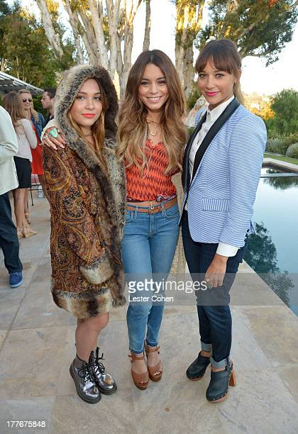 Actresses/sisters Stella Hudgens and Vanessa Hudgens and actress Rashida Jones attend Lucky Brand Celebration of California Culture and Style on...