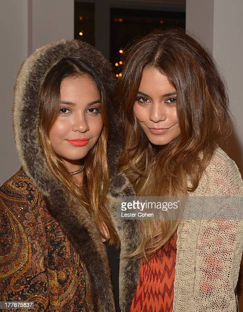 Actresses/sisters Stella Hudgens and Vanessa Hudgens attend Lucky Brand Celebration of California Culture and Style on August 24 2013 in Malibu...