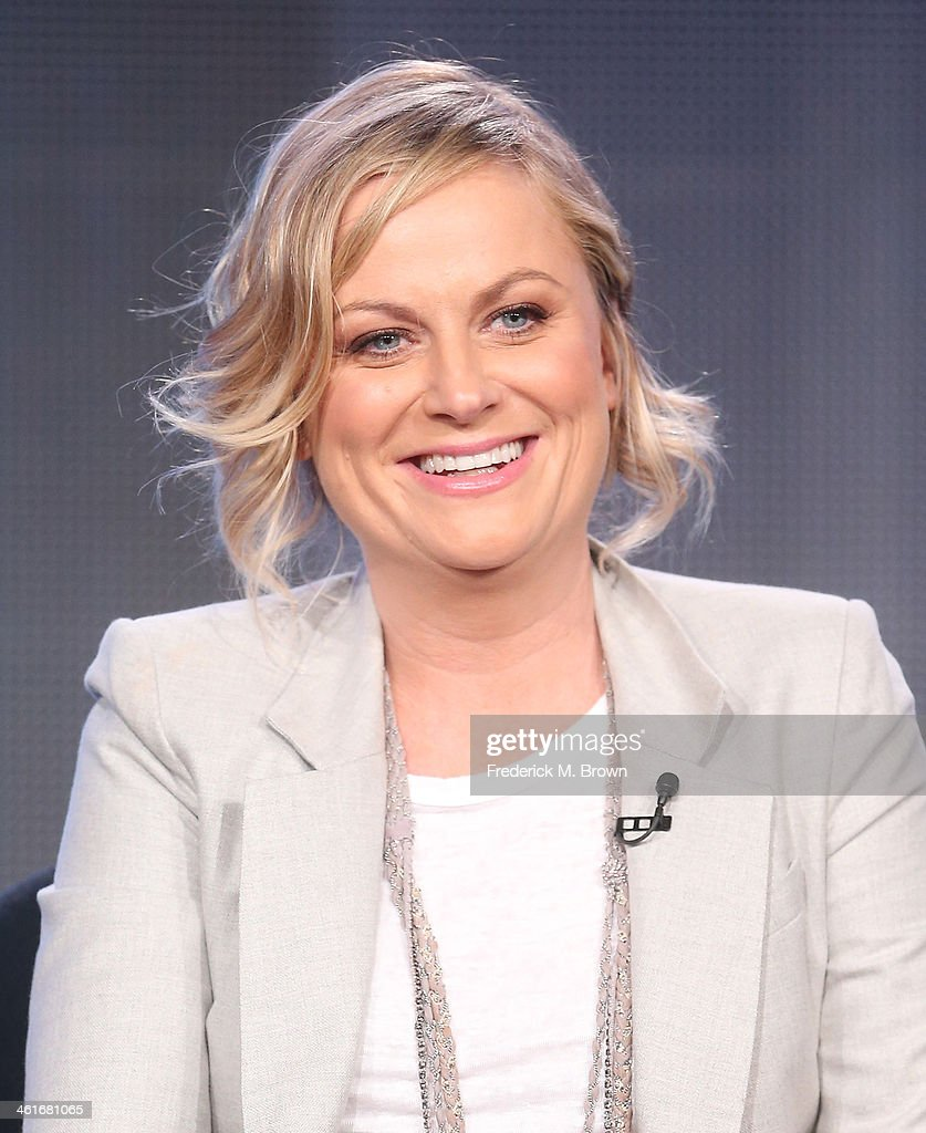 Actress/Executive Producer <a gi-track='captionPersonalityLinkClicked' href=/galleries/search?phrase=Amy+Poehler&family=editorial&specificpeople=228430 ng-click='$event.stopPropagation()'>Amy Poehler</a> speaks onstage during the 'Comedy Central - Broad City' panel discussion at the Viacom portion of the 2014 Winter Television Critics Association tour at the Langham Hotel on January 10, 2014 in Pasadena, California.
