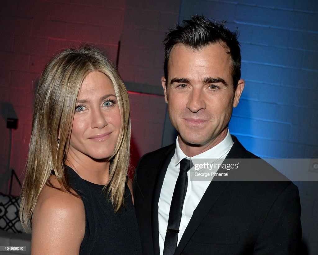 Actress/Executive Producer Jennifer Aniston and actor Justin Theroux attend the 'Cake' premiere during the 2014 Toronto International Film Festival...