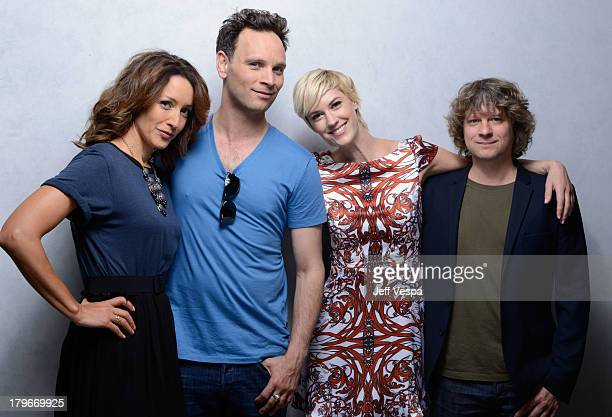 Actress/Executive producer Jennifer Beals actor Ben Cotton actress Lauren Lee Smith and director Terry Miles of 'Cinemanovels' pose at the Guess...