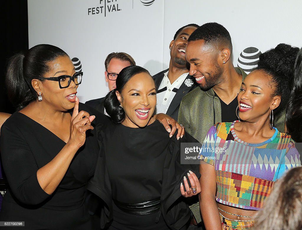 Actress/executive producer Oprah Winfrey, actors Lynn Whitfield, Tye White and Lovie Simone attend the Tribeca Tune In: 'Greenleaf' Screening at John Zuccotti Theater at BMCC Tribeca Performing Arts Center on April 20, 2016 in New York City.