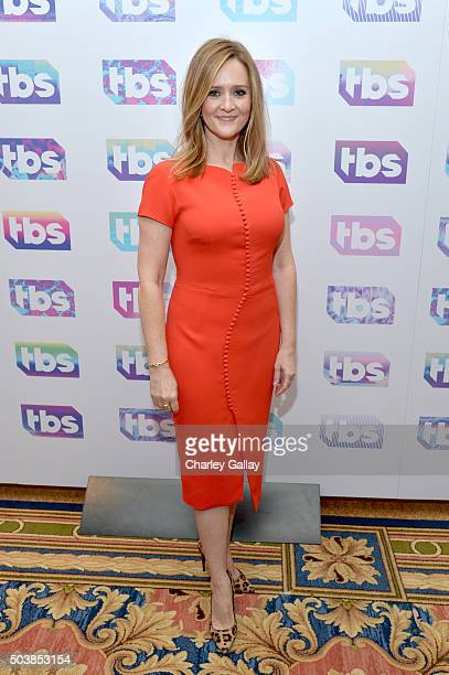 Actress/executive producer Samantha Bee attends the 2016 TCA Turner Winter Press Tour Presentation at the Langham Hotel on January 7 2016 in Pasadena...
