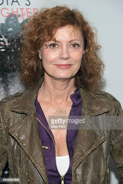 Actress/Executive Producer Susan Sarandon attends the 'India's Daughter' special New York screening at Village Cinemas East on October 29 2015 in New...
