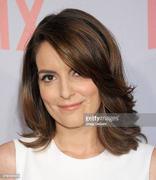 Actress/executive producer Tina Fey arrives at Netflix's series 'Unbreakable Kimmy Schmidt' QA Screening event at Pacific Design Center on June 7...