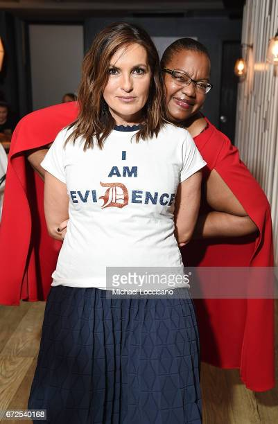 Actress/Film Producer Mariska Hargitay and film subject Kym Worthy attend a cocktail party at Bocca di Bacco Chelsea before the HBO Documentary...