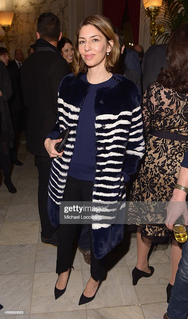 Actress/filmmaker <a gi-track='captionPersonalityLinkClicked' href=/galleries/search?phrase=Sofia+Coppola&family=editorial&specificpeople=202230 ng-click='$event.stopPropagation()'>Sofia Coppola</a> attends the after party following the 'Monuments Men' premiere at The Metropolitain Club on February 4, 2014 in New York City.