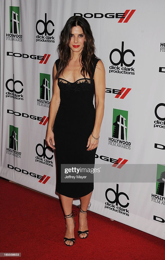 Actress/Honoree Sandra Bullock arrives at the 17th Annual Hollywood Film Awards at The Beverly Hilton Hotel on October 21, 2013 in Beverly Hills, California.