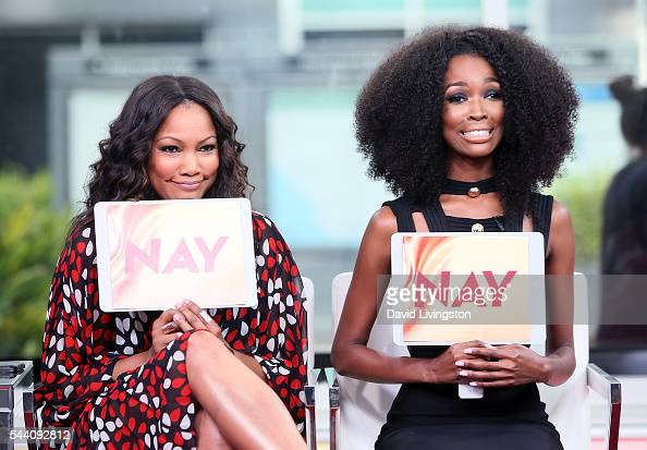 Actress host garcelle beauvais and tv personality tia shipman attend