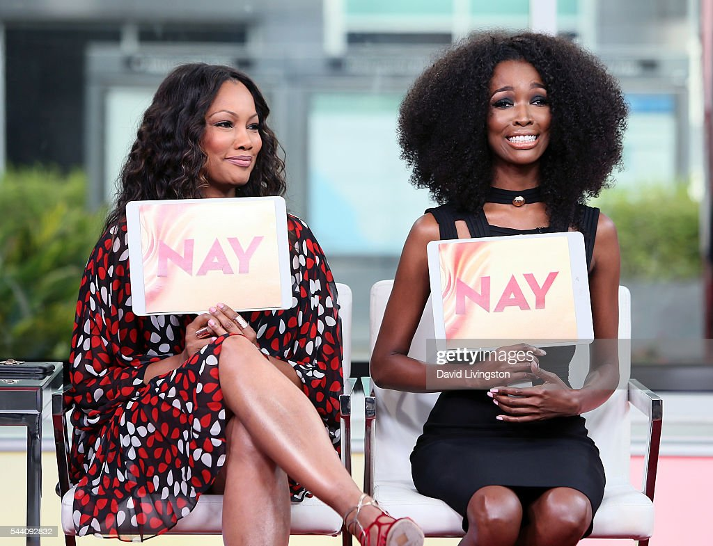 Actress/host Garcelle Beauvais (L) and TV personality Tia Shipman attend Hollywood Today Live at W Hollywood on July 1, 2016 in Hollywood, California.